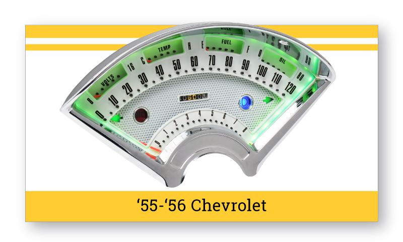 "'55-'56 Chevrolet Tri-Five ""SuperStock"" Gauges"