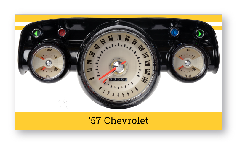 "'57 Chevrolet Tri-Five ""SuperStock"" Gauges"