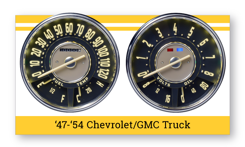 "'47-'53 Chevrolet Truck ""SuperStock"" Gauges"