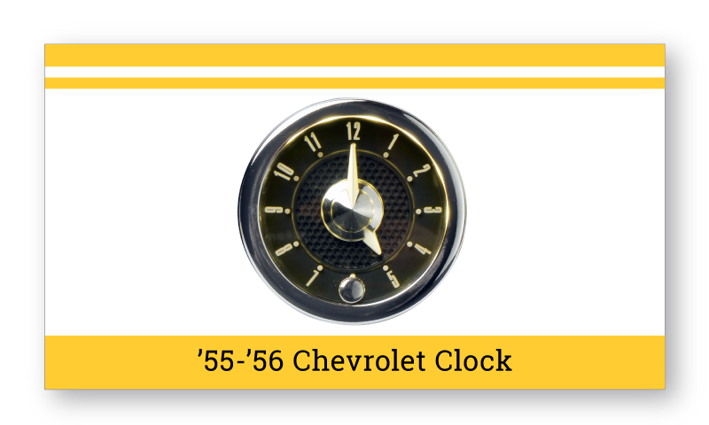"'55-'56 Chevrolet ""SuperStock"" Clock"