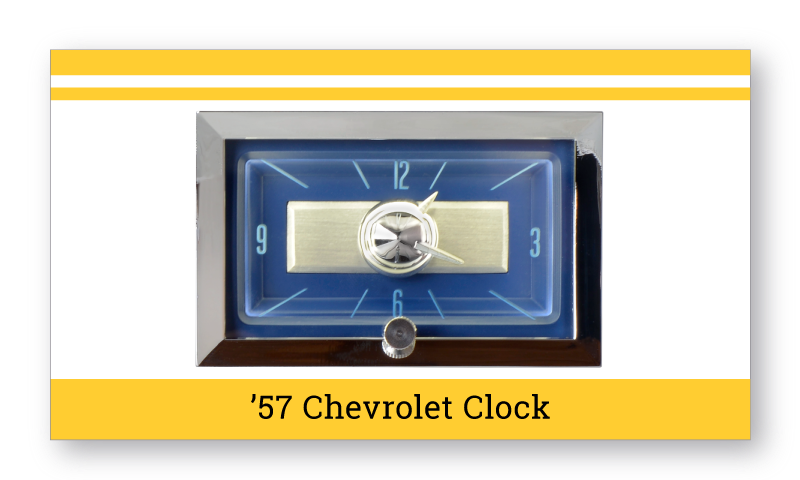 "'57 Chevrolet ""SuperStock"" Clock"