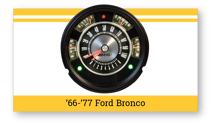 "'66-'77 Ford Bronco ""SuperStock"" Gauges"